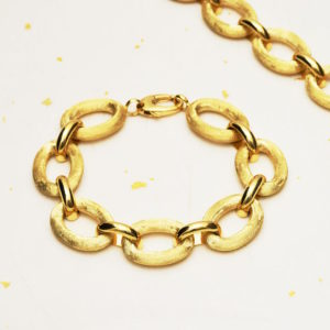 14k gold chain bracelet with oversize links