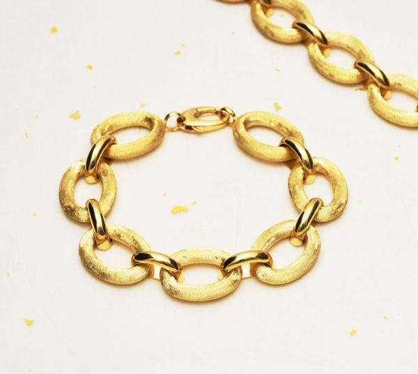 14k gold chain bracelet with oversize links